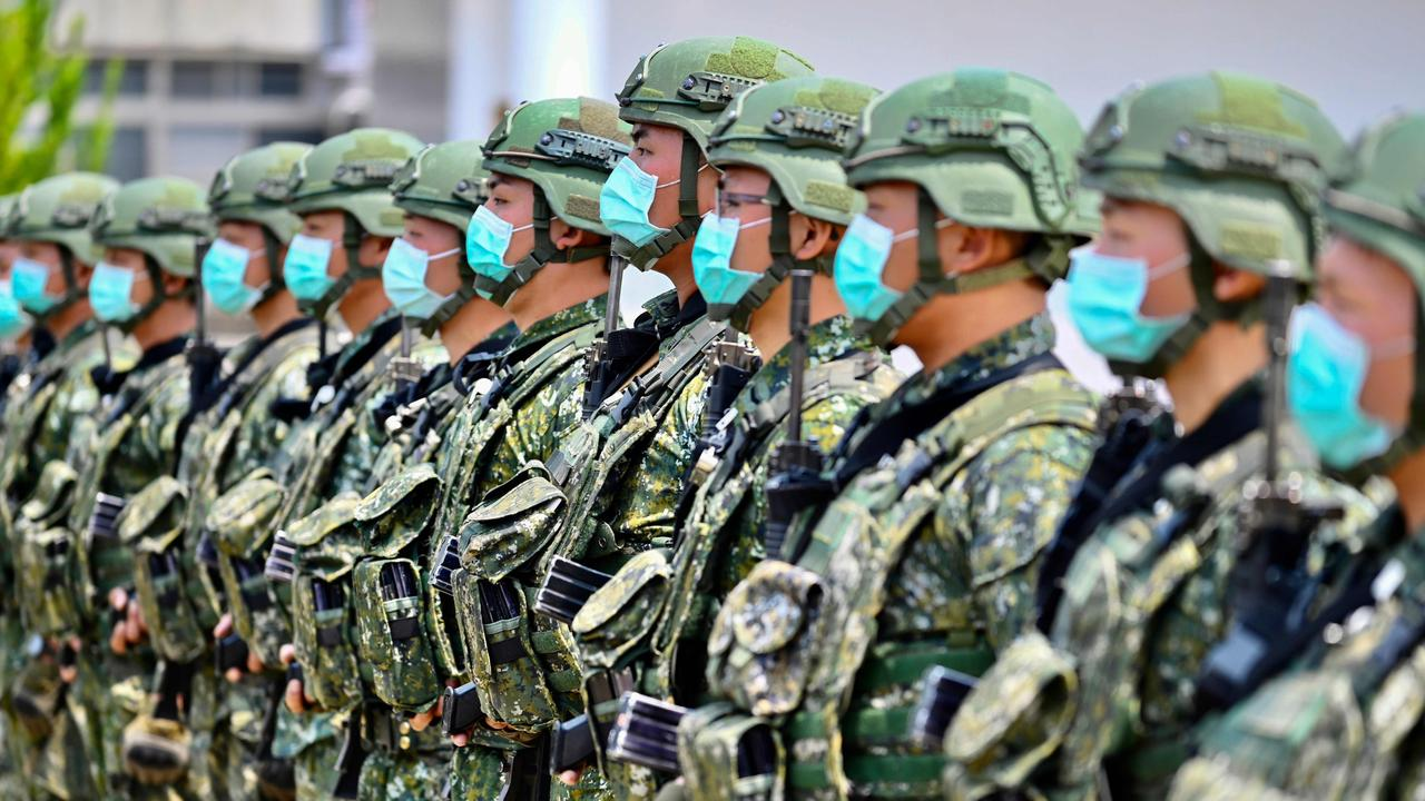Taiwan is counting on the US and Western allies to protect it against a Chinese invasion. Picture: AFP