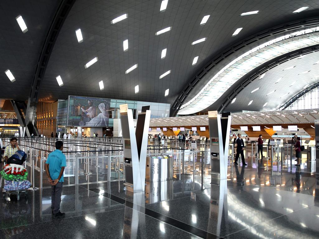 Hamad International Airport has been gearing up for Doha to host the 2022 FIFA World Cup. Picture: AFP/Stringer