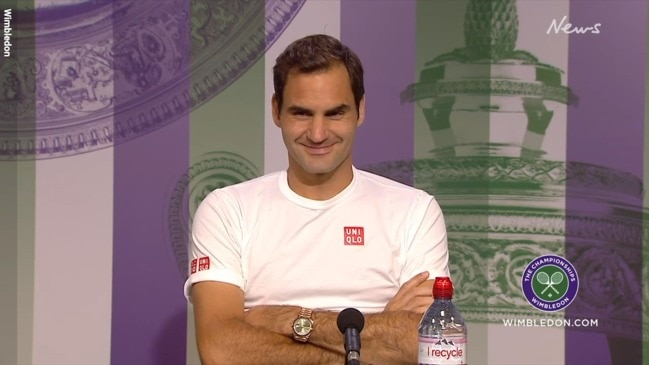 Roger Federer hung one reporter out to dry and left everyone else in stitches