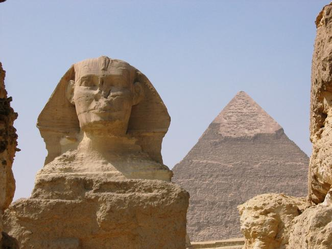 ORIGINAL: THE GREAT PYRAMID AND SPHINX, CAIRO