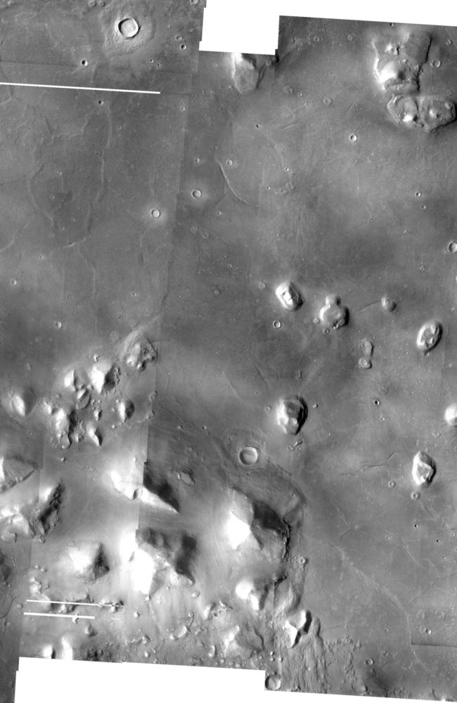 City or sandpit? The Cydonia region of Mars in a composite of photographs from the 1976 Viking spacecraft pass. Source: NASA