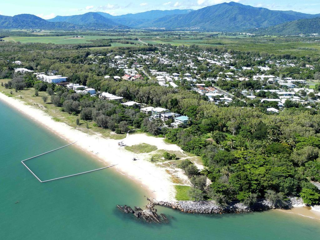 Aerial photo of Yorkeys Knob beach in the northern beaches region of Cairns. Picture: Brendan Radke