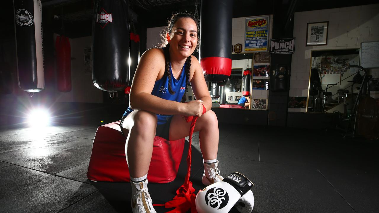 Olympic boxer Caitlin Parker gets set for the challenge of Tokyo. Picture: Adam Head