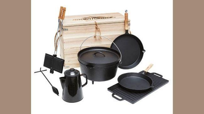 Cast iron gear is a must-have for long-term road-trippers or serious car campers. Credit: Supplied