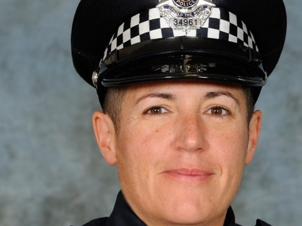 First Constable D'Arne 'Dee' De Leo was killed while she was riding her motorcycle to work on January 12, 2017.