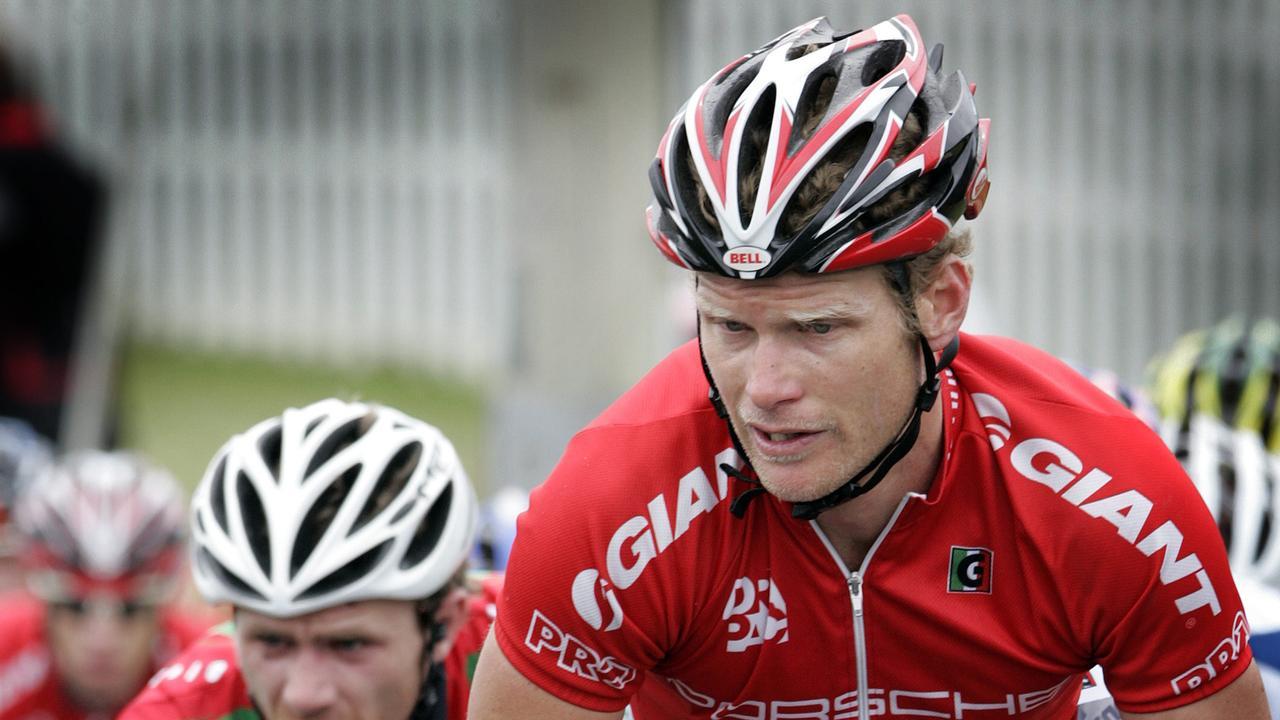 Cycling Tour of Tasmania, Burnie Criterium stage, competitor Stuart Shaw, of the ACT (Australian Capital Territory)