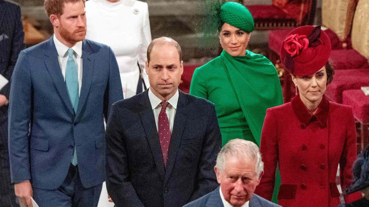 Prince Harry and Meghan Markle had their final royal appearance in March. Picture: Phil Harris/AFP