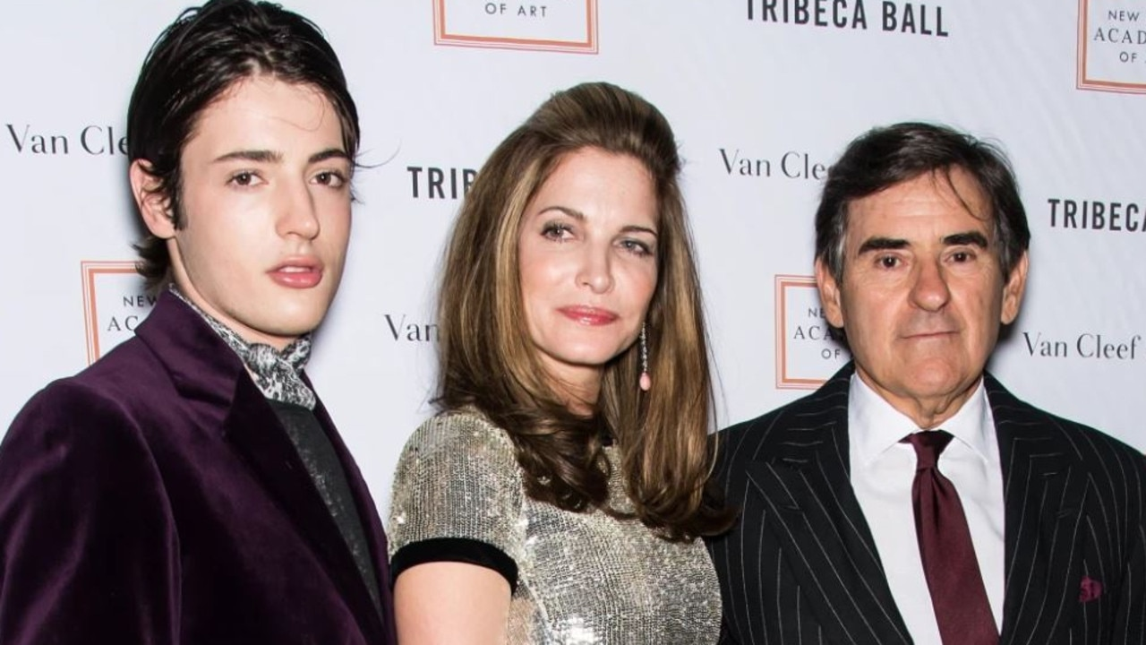 Harry Brant, his mother, the model Stephanie Seymour, and his father, industrialist/businessman Peter Brant, attend the 2015 Tribeca Ball in 2013. Picture: Getty Images