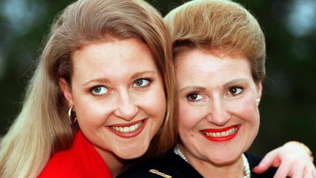 Angela Bishop with her mum Bronwyn.