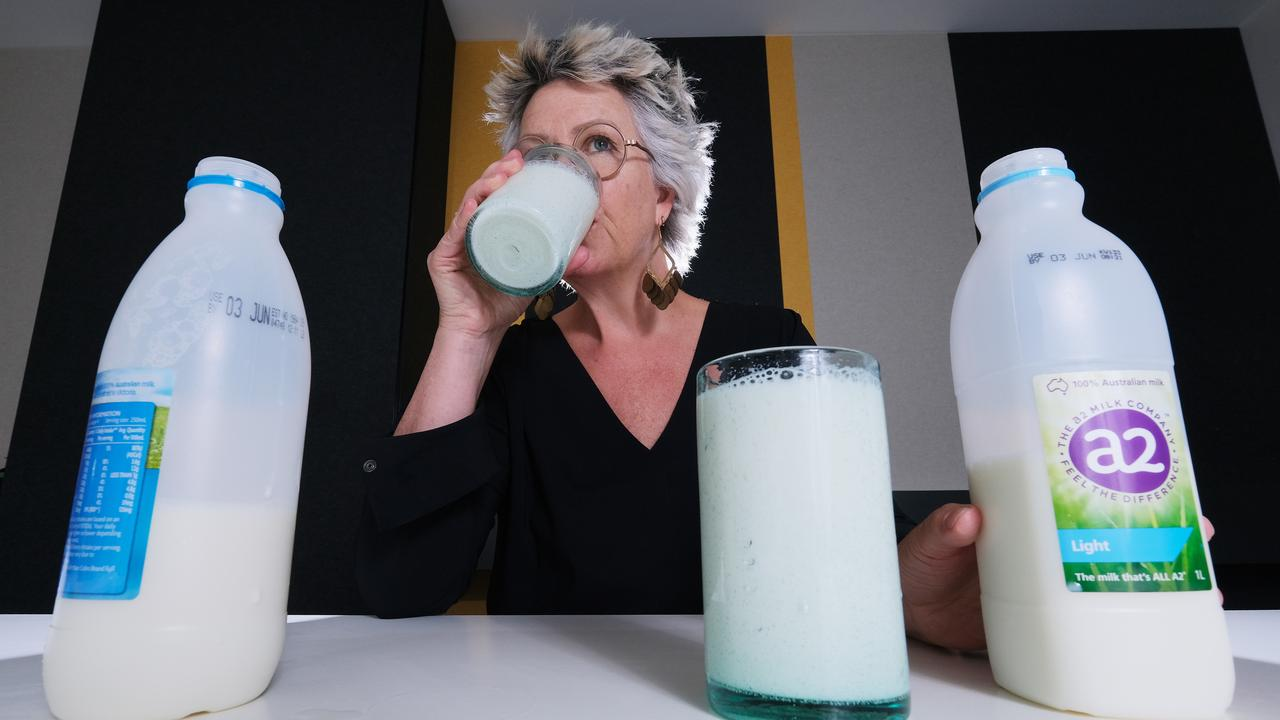 a2 Milk was a lowlight, suffering a profit and share price plunge amid a sharp fall in its Chinese infant formula market. Picture: Mark Wilson