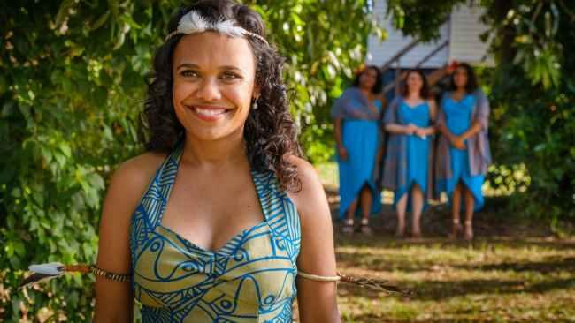 15/20Famous people from the Tiwi Islands Actress Miranda Tapsell is a proud Tiwi woman and returned there to film Top End Wedding, staging the nuptials in the Nguiu Church on Bathurst Island. Having serenaded the cast with a healing song prior, some Tiwis appeared in the scene thinking it was her real wedding. 