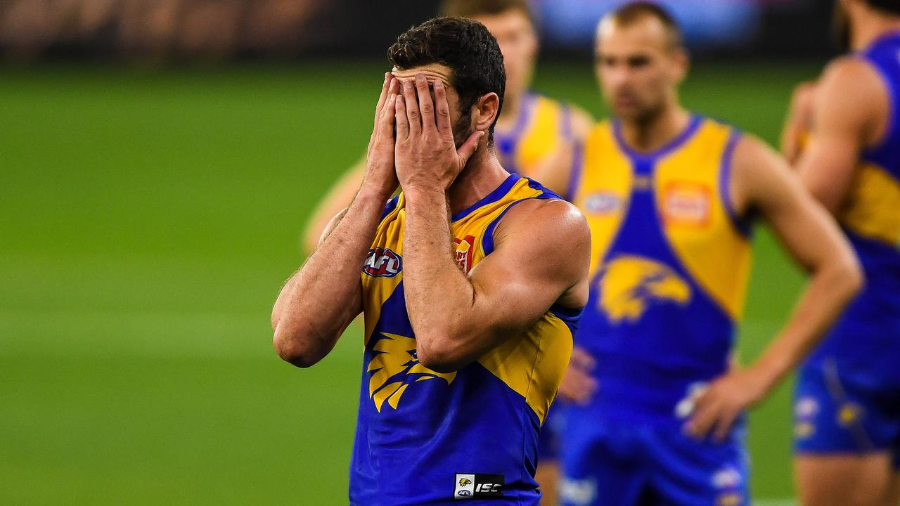 Mick Malthouse doesn't think Jack Darling's West Coast Eagles will make the top eight in 2021. Picture: Daniel Carson