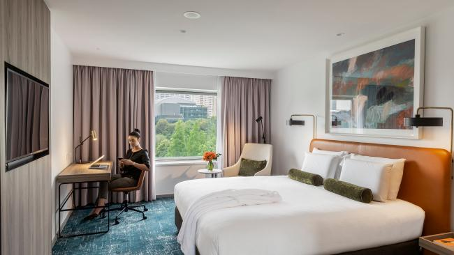An Executive Room at the Novotel Darling Harbour.
