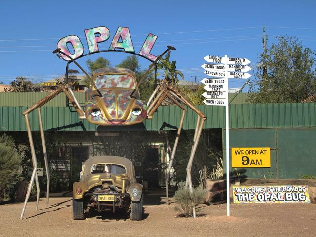 39. THE OPAL CAPITAL OF THE WORLD Coober Pedy is halfway between Adelaide and Alice Springs and famous for its sun-scorched lunar landscape and labyrinth of underground homes, hotels and shops.