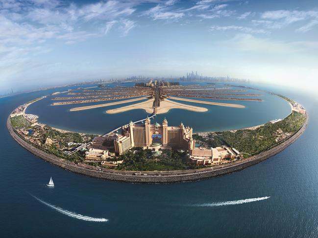 ATLANTIS, THE PALM The crowning feature of the archipelago is Atlantis, The Palm, a massive five-star hotel, set on 46ha, with 17ha of waterpark alone. As you can guess, Atlantis is as much an adventure playground for families and couples, as it is a breathtaking hotel with some award-winning restaurants to boot. You can catch a monorail from the Gateway Towers at the foot of the island straight to the Atlantis Hotel. Picture: Dubai Tourism