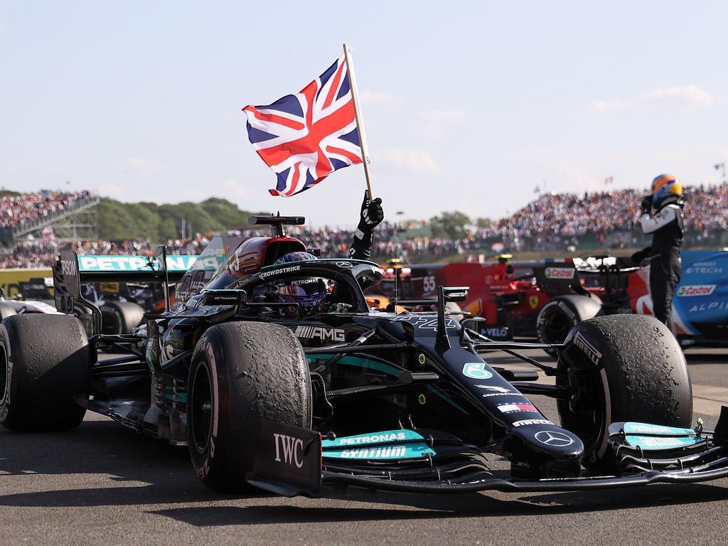 Hamilton celebrated a win on home soil.