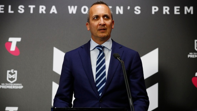 NRL CEO Andrew Abdo has said relocation has been considered before this weekend. Picture: Sam Ruttyn