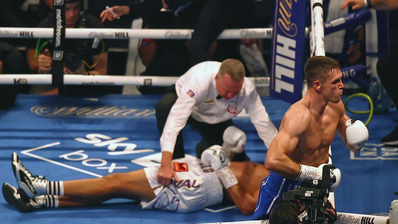 There were fears for Castillo's wellbeing after the sickening KO. (Photo by Adrian Dennis/AFP)