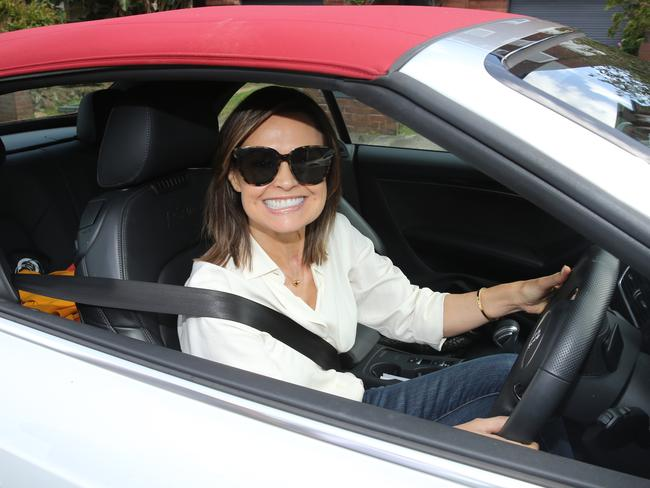 Lisa Wilkinson had a big smile for the cameras. Picture: John Grainger
