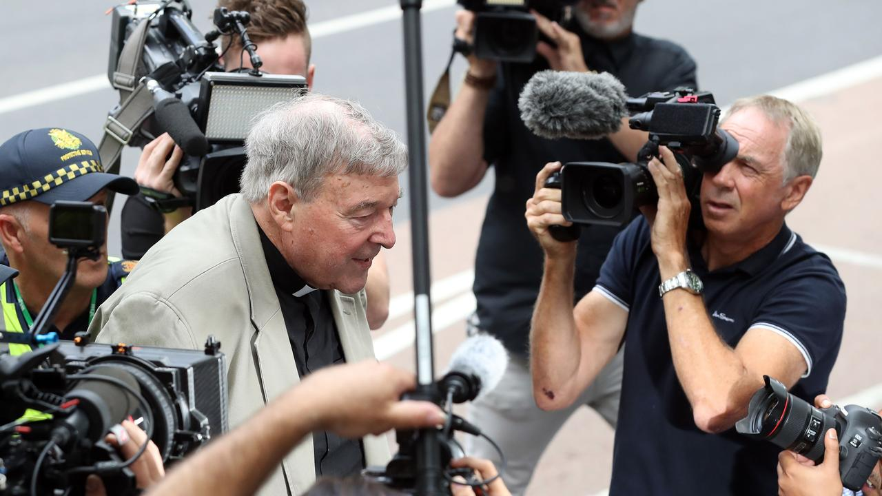 Cardinal George Pell has been found guilty of historical child sexual offences. Picture: Con Chronis / AFP.
