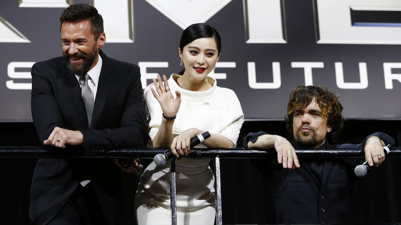 Fan Bingbing appearing at the X-Men premiere alongside Hugh Jackman and Peter Dinklage.