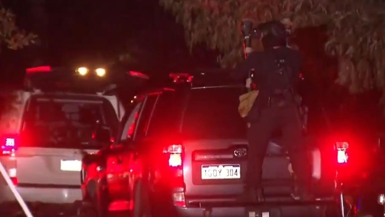 The siege started when multiple gun shots were heard. Picture: 9 News