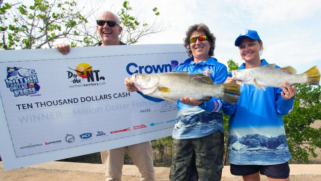 The prize-winning fish were caught within 24 hours of each other.