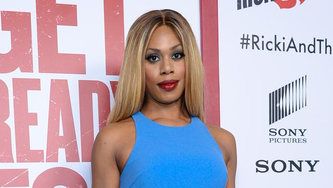 Stunning ... Laverne Cox at the premiere of Ricki and the Flash in New York.