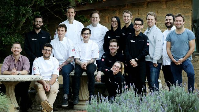 Appetite for Excellence Finalists pictured at Distillery Botanica at Erina on the Central Coast NSW. (from left) Cam Cansdell, Dylan Labuschagne, Troy Crisante, Mal Meiers, Aaron Ward, Zack Furst, Jordan Monkhouse, Rory McCallum, Natasha Janetzki, Morgan Golledge, Aaron Day, George Papaioannou, Kelvin Shore, Thiago Miranda and Dave Parker. Picture: Sue Graham