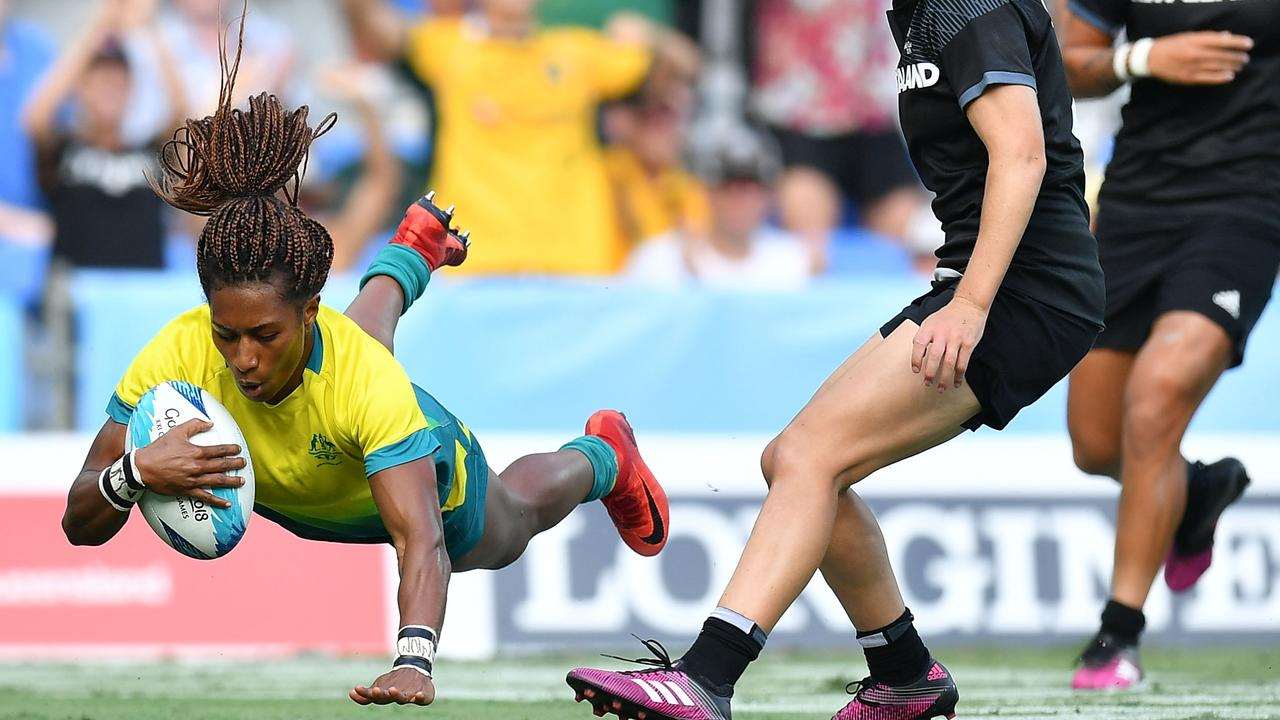 The Australians were valiant in their loss to arch-rivals New Zealand. Picture: Getty
