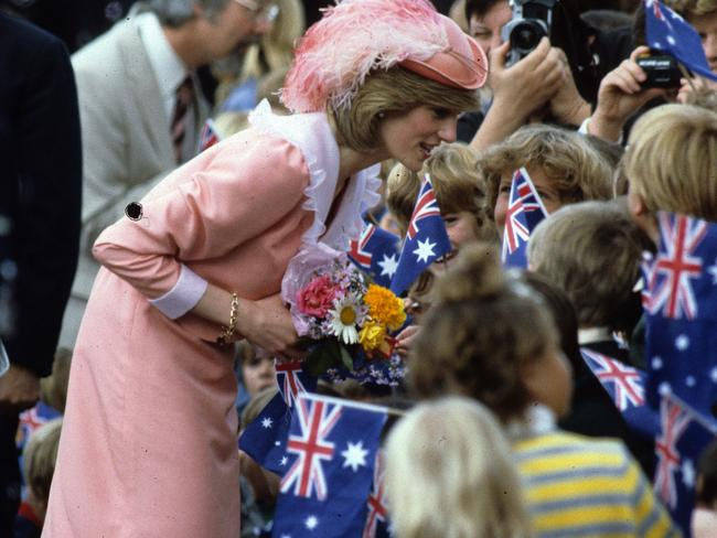 The new Princess Diana realised during her first tour that crowds had arrived to see her rather than Prince Charles. Picture: Anwar Hussein/Getty Images.
