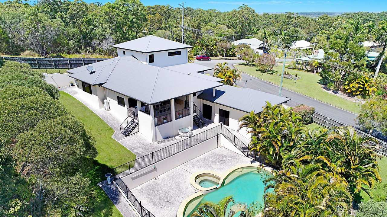 A four-bedroom house with pool on 2267sq m at 29 Pinewood St, Little Mountain, goers to auction Saturday at 3pm.