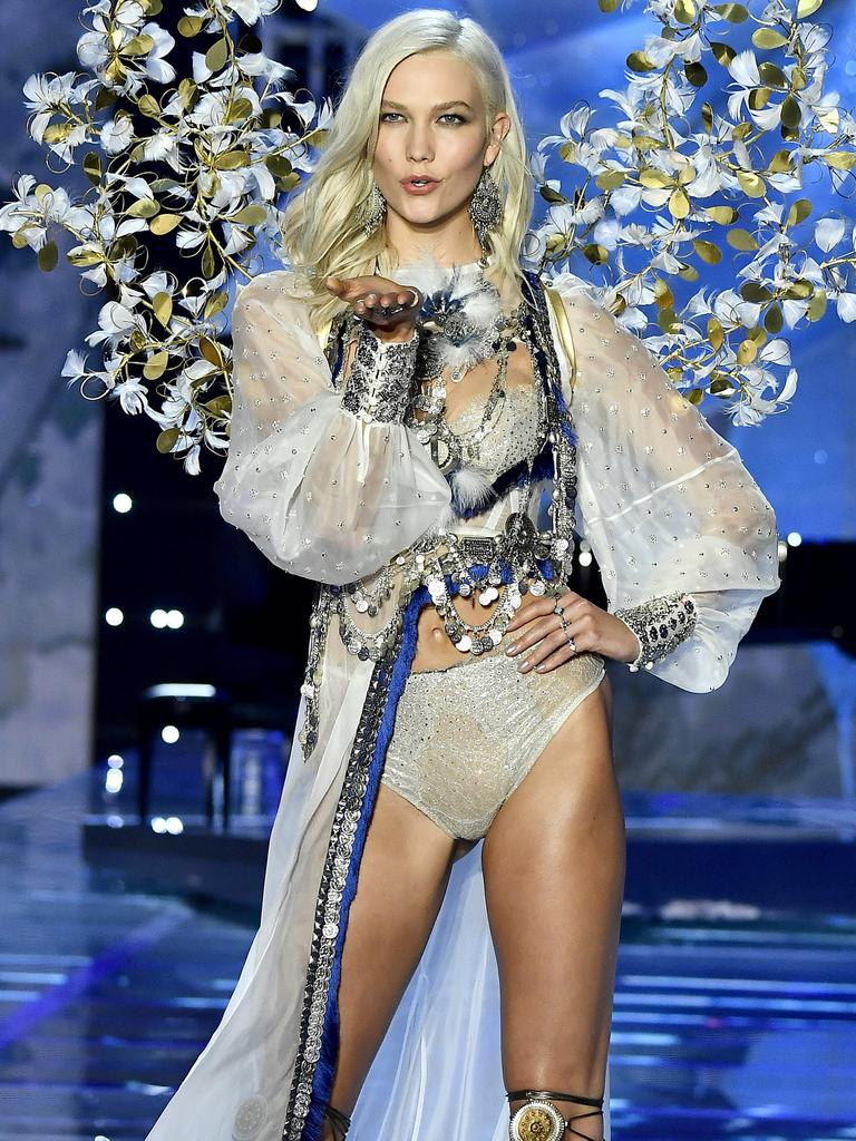 Karlie Kloss walks the runway during the 2017 Victoria's Secret Fashion Show In Shanghai Picture: Getty