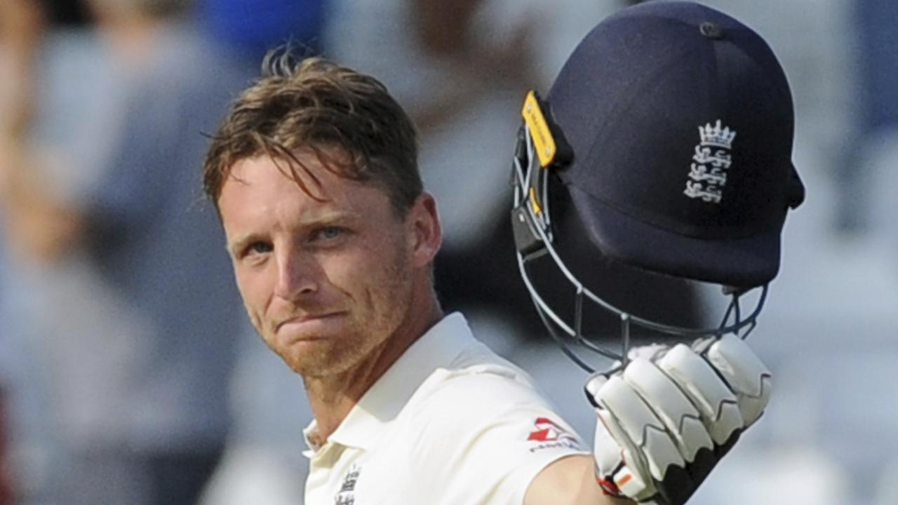 Jos Buttler kept England in the hunt for a while on day four. Picture: AP.