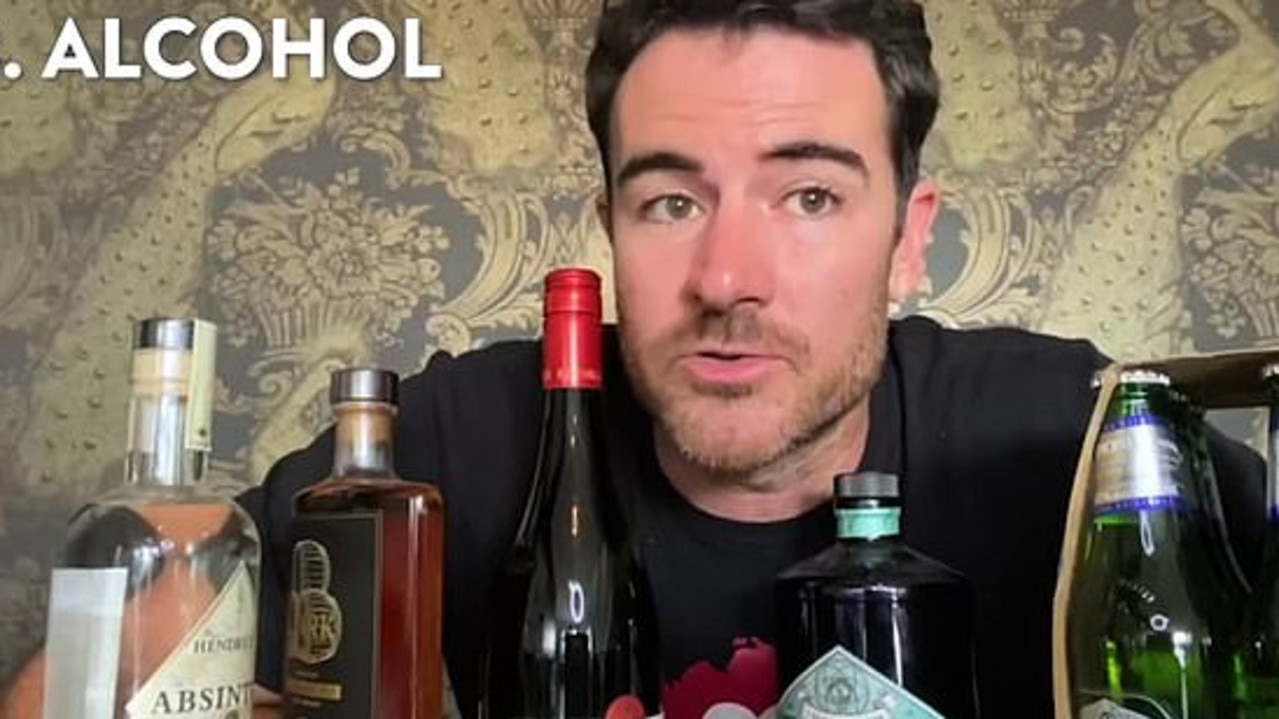He also admitted to drinking on flights. Picture: YouTube