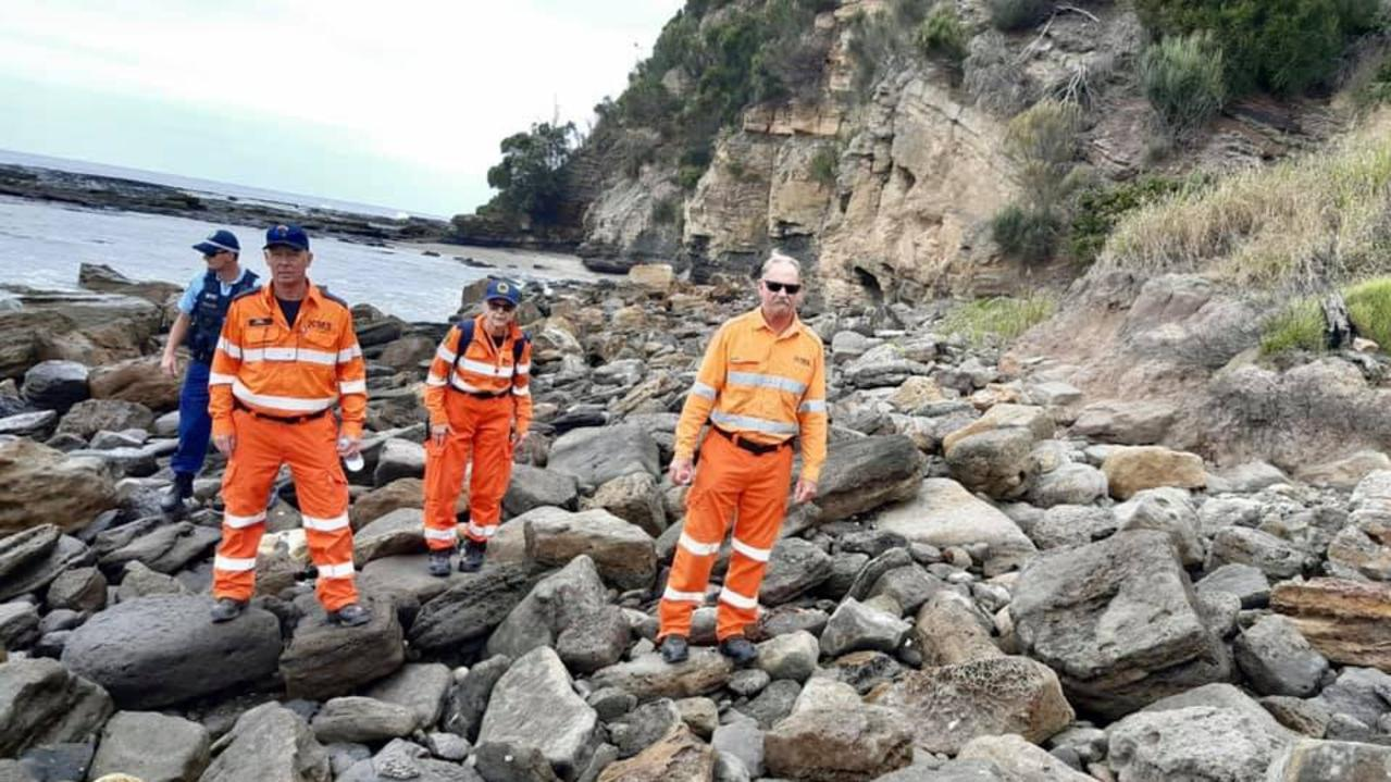 Authorities search for more remains near Mollymook. Picture: Facebook