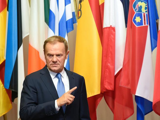 EU Council president Donald Tusk said a vote to leave could lead to a collapse of Western political civilisation. Picture: AFP / John Thys