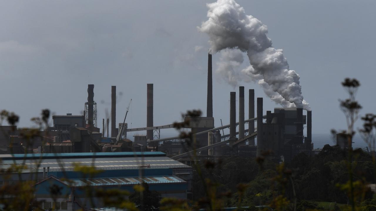 Steel producer BlueScope has announced a net zero climate change goal. Picture: Dean Lewins / AAP