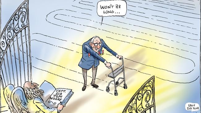 Mark Knight cartoon on funeral of Sir Tom Moore