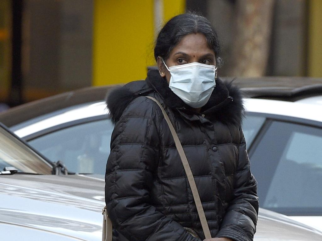 Kumuthini Kannan arrives at the Melbourne Supreme Court for a plea hearing after being found guilty of keeping a woman as a slave. Picture: NCA NewsWire / Andrew Henshaw