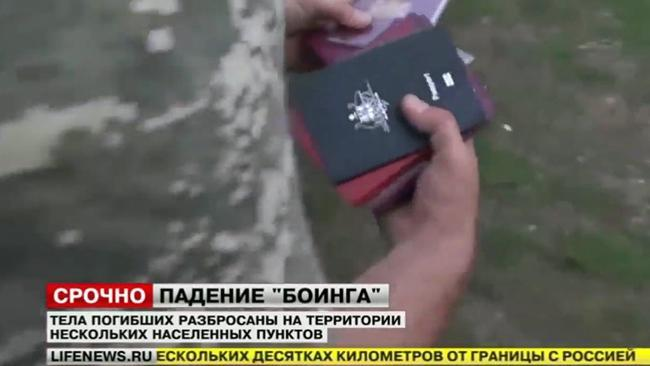 Australian passport in MH17 crash news report