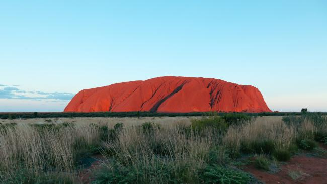 Uluru changing colour in the afternoon light