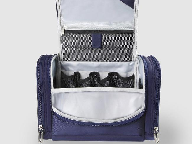 SAMSONITE'S B'LITE 4 TOILETRY KIT — $69 Just like their luggage, this toiletry bag from Samsonite is full of considered features. From mesh compartments to separate zippered pockets, there's plenty of room for all your daily essentials, even if you're sharing with a partner or the family. It also boasts a durable — and easy to clean — shell, hanging loop and padded top handle for ease of transportation.