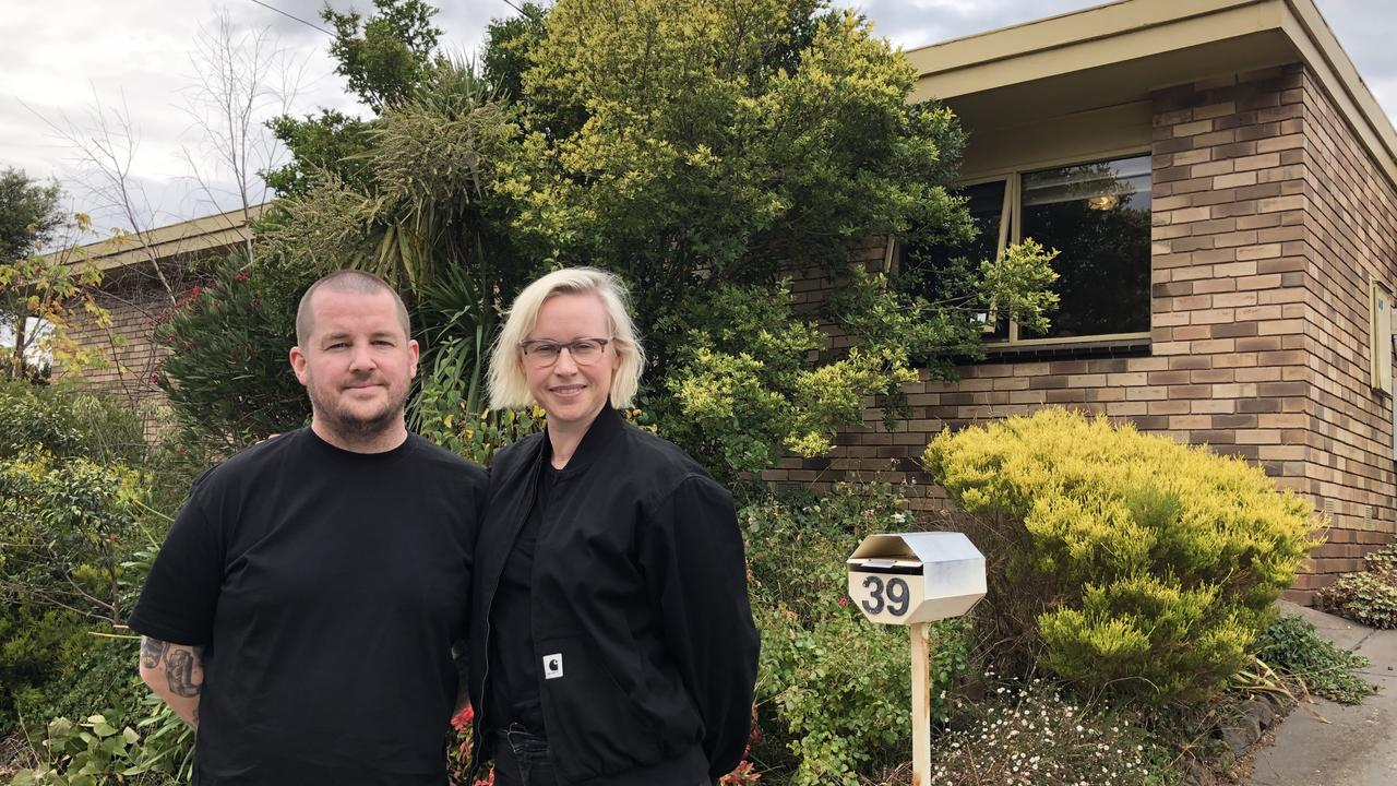 Melbourne couple Wade Johnston and Dani Dunley recently bought their first home in Highton.