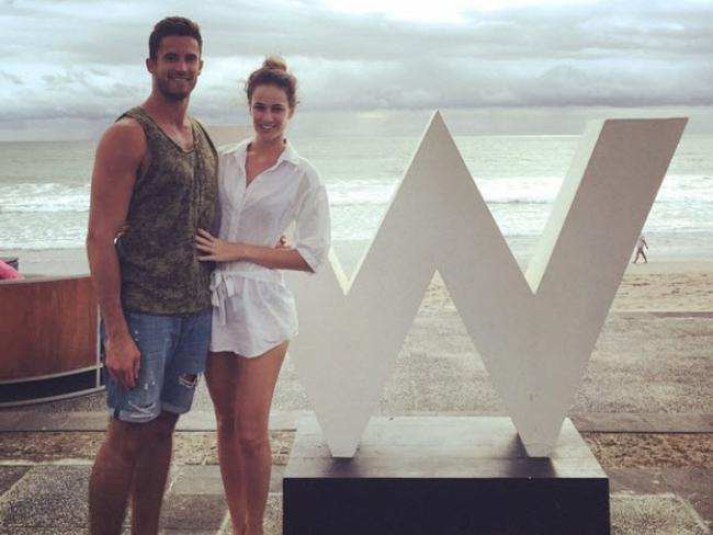 The pair announced their engagement while on holiday in Bali.