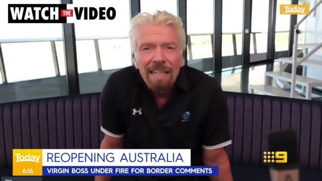 Richard Branson shames Australia over slow vaccine rollout (Today)