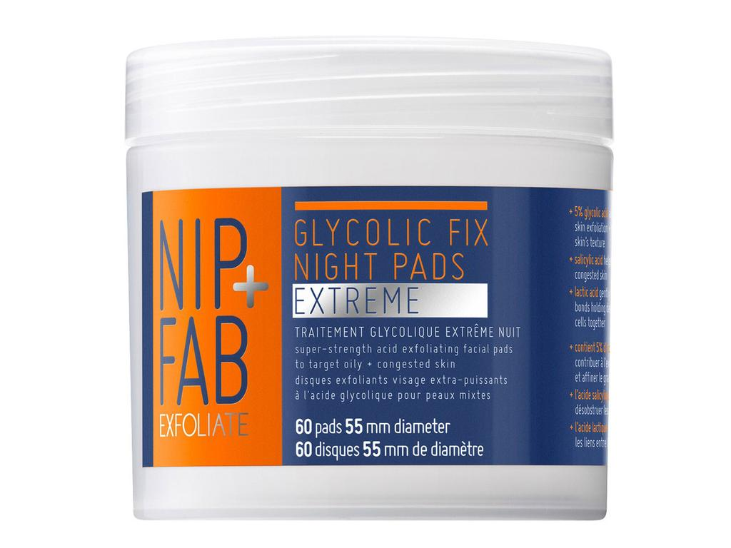 Nip and fab glycolic fix night pads extreme. Picture: Supplied
