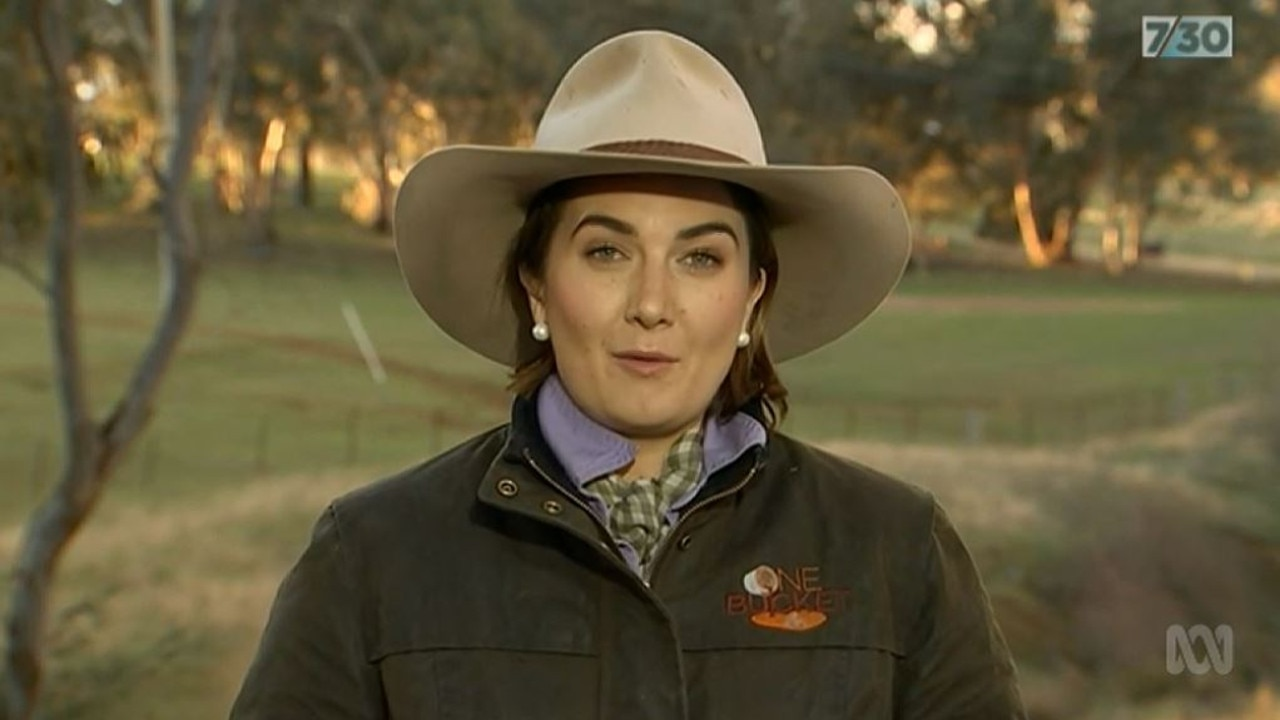 Edwina Robertson on 7.30 bagging the PM's drought package