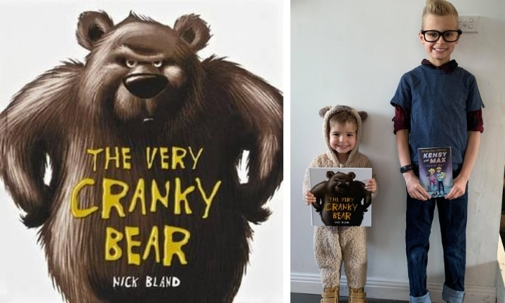 <b>THE VERY CRANKY BEAR & MAX.</b>  These super adorbs siblings smashed their Book Week parade with a simple onesie for The Very Cranky Bear, and for Max, of Kensy and Max, all it took was some preppy looking clothes, glasses and spiky hair. Easy peasy!