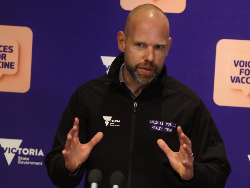 The demonstrator who tested positive to coronavirus is in his 30s and lived in Geelong, COVID-19 response commander Jeroen Weimar said on Sunday. Picture: NCA NewsWire / Paul Jeffers
